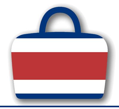 コスタリカ共和国の国旗-バッグ
