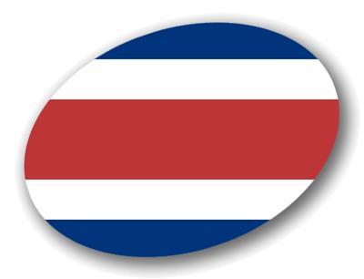 コスタリカ共和国の国旗-楕円