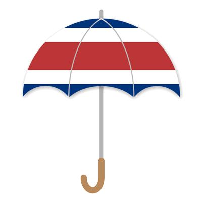 コスタリカ共和国の国旗-傘