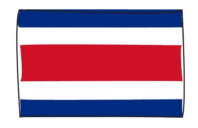 コスタリカ共和国の国旗-グラフィティ