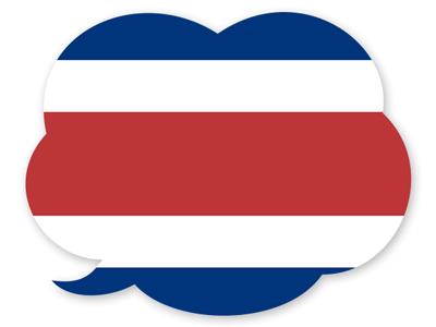 コスタリカ共和国の国旗-吹き出し