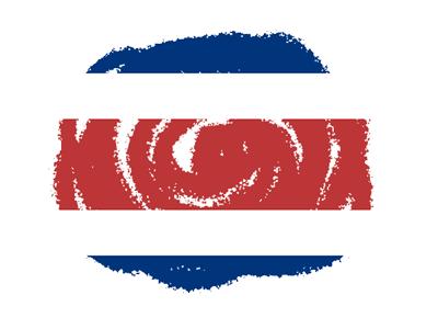 コスタリカ共和国の国旗-クラヨン2
