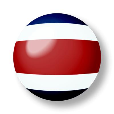 コスタリカ共和国の国旗-ビー玉