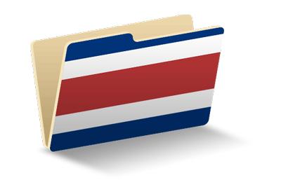 コスタリカ共和国の国旗-フォルダ