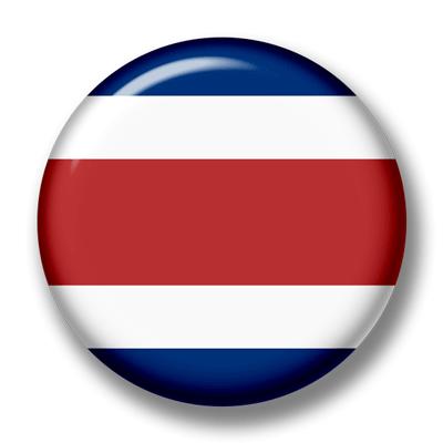 コスタリカ共和国の国旗-缶バッジ