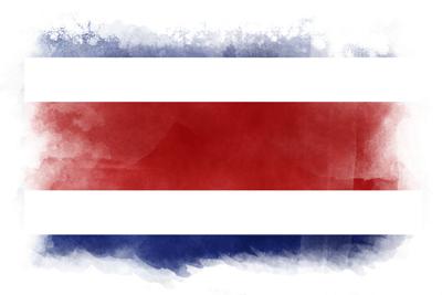 コスタリカ共和国の国旗-水彩風