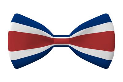 コスタリカ共和国の国旗-蝶タイ