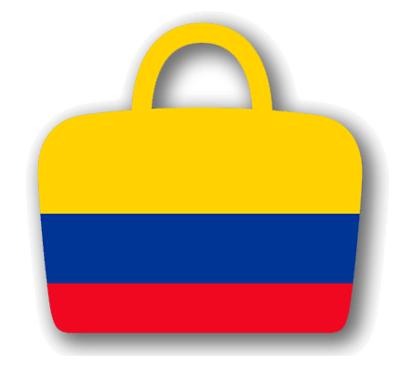 コロンビア共和国の国旗-バッグ