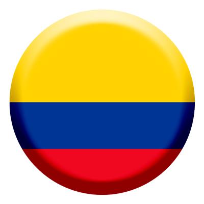コロンビア共和国の国旗-コイン