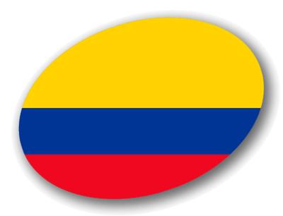 コロンビア共和国の国旗-楕円