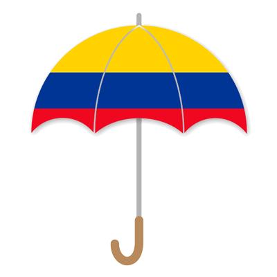 コロンビア共和国の国旗-傘