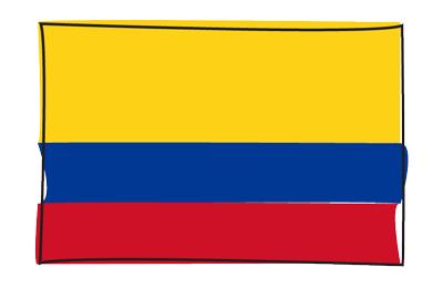 コロンビア共和国の国旗-グラフィティ