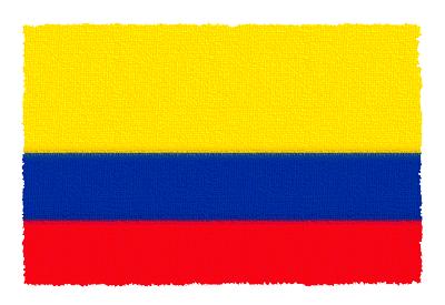 コロンビア共和国の国旗-パステル