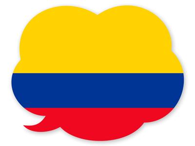 コロンビア共和国の国旗-吹き出し