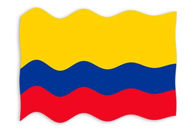 コロンビア共和国の国旗-波