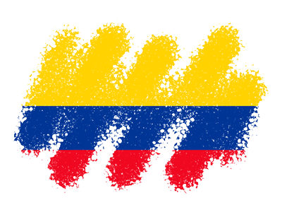 コロンビア共和国の国旗-クレヨン1