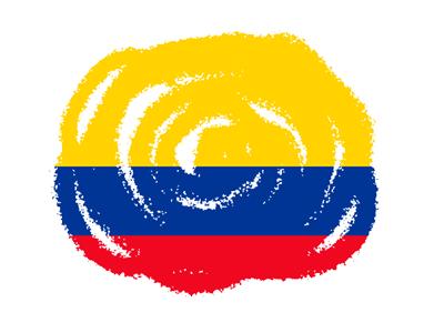 コロンビア共和国の国旗-クラヨン2