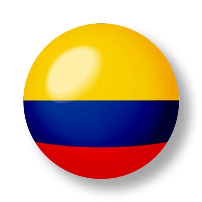 コロンビア共和国の国旗-ビー玉