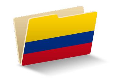 コロンビア共和国の国旗-フォルダ