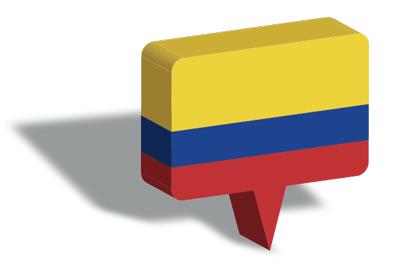 コロンビア共和国の国旗-マップピン