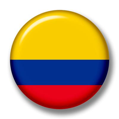 コロンビア共和国の国旗-缶バッジ