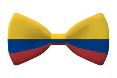 コロンビア共和国の国旗-蝶タイ