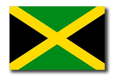 ジャマイカの国旗-ドロップシャドウ