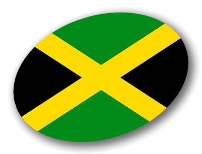ジャマイカの国旗-楕円