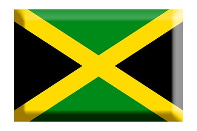 ジャマイカの国旗-板チョコ
