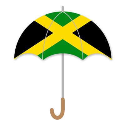 ジャマイカの国旗-傘