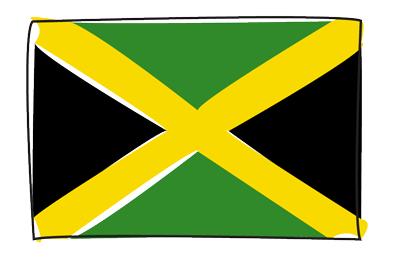 ジャマイカの国旗-グラフィティ