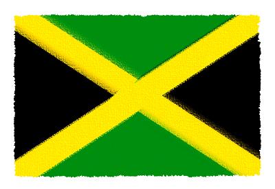 ジャマイカの国旗-パステル