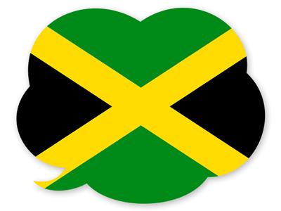 ジャマイカの国旗-吹き出し