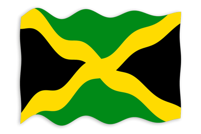 ジャマイカの国旗-波