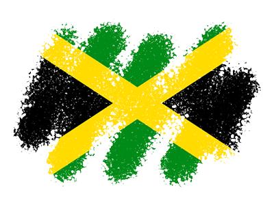 ジャマイカの国旗-クレヨン1