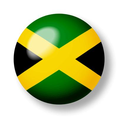 ジャマイカの国旗-ビー玉