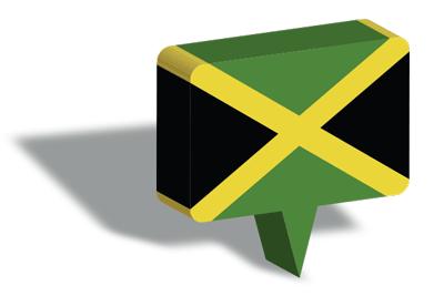 ジャマイカの国旗-マップピン