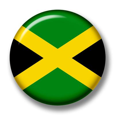 ジャマイカの国旗-缶バッジ