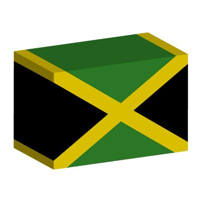 ジャマイカの国旗-積み木