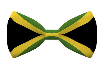 ジャマイカの国旗-蝶タイ