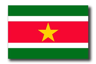 スリナム共和国の国旗-ドロップシャドウ