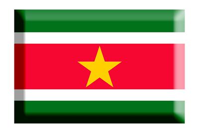 スリナム共和国の国旗-板チョコ