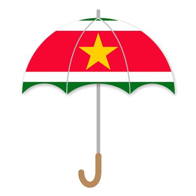 スリナム共和国の国旗-傘