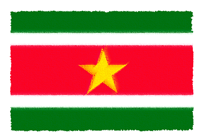 スリナム共和国の国旗-パステル