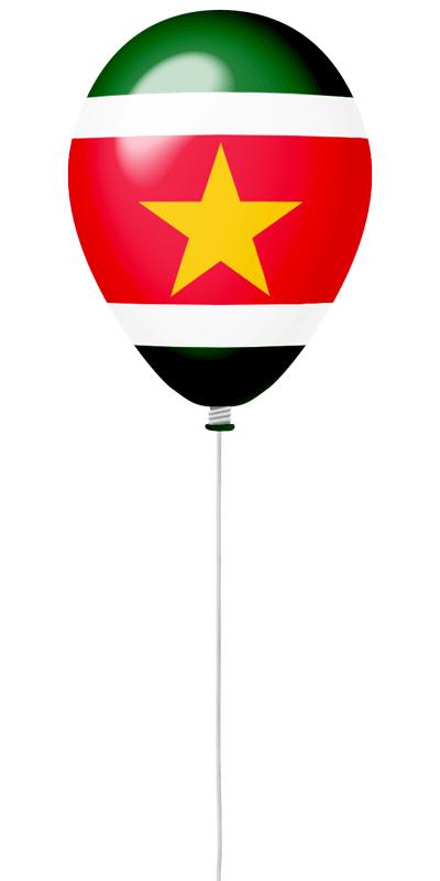 スリナム共和国の国旗-風せん