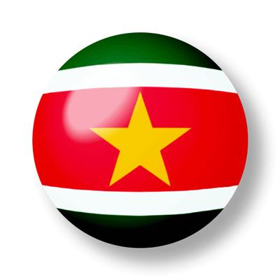 スリナム共和国の国旗-ビー玉