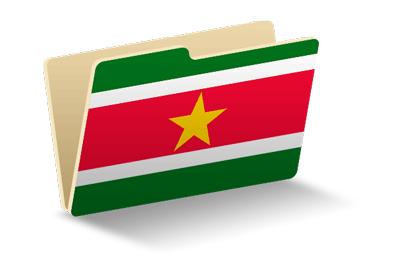 スリナム共和国の国旗-フォルダ