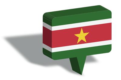 スリナム共和国の国旗-マップピン
