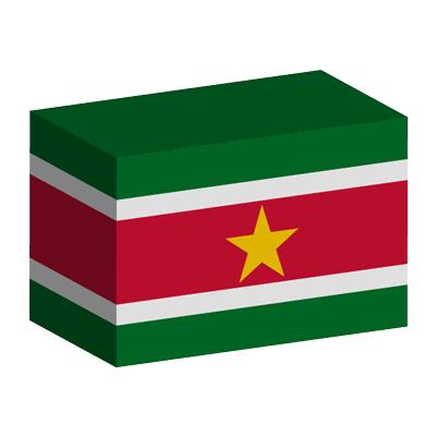 スリナム共和国の国旗-積み木