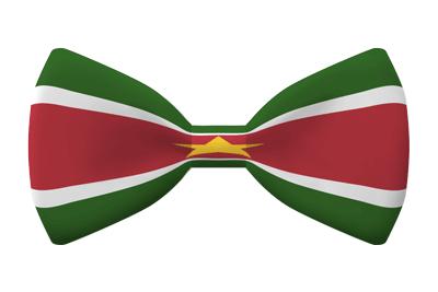 スリナム共和国の国旗-蝶タイ